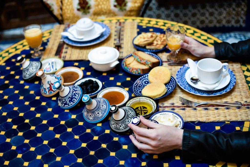 Morocco food ceramics