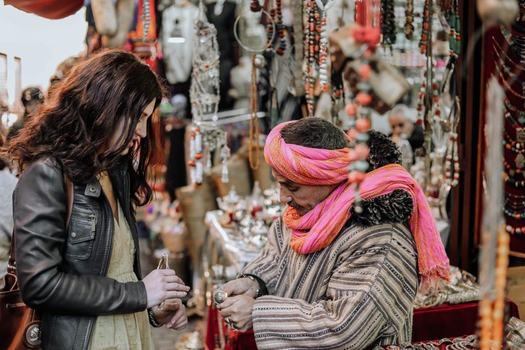 Marrakesh shopping Morocco