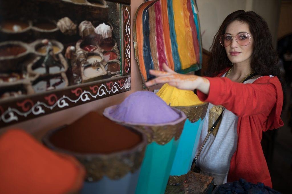 Morocco spices shopping .1