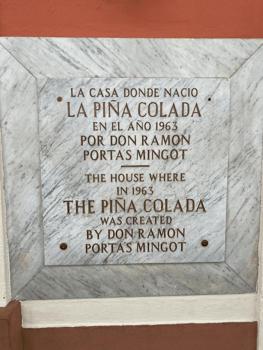 Puerto Rico Pina collada invented