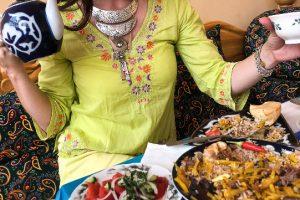 Uzbekistan tea and food