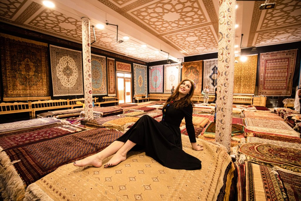 Uzbekistan shopping rugs
